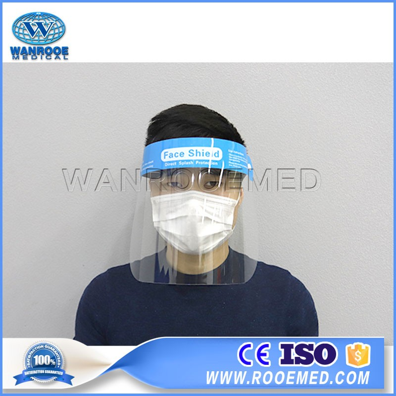 EA-15E Plastic Transparent PPE Face Protection Shield Medical Safety Face Shield