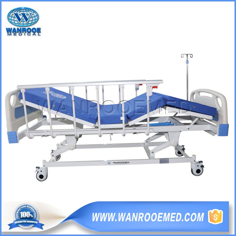 BAM309 Hospital 3 Crank Manually Adjustable Folding Patient Operating Bed