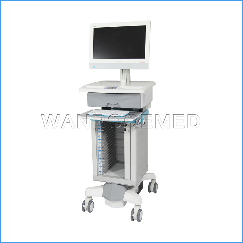 BWT-001E Hospital Dossier All-in-one Check Room Cart Medical Mobile Trolley