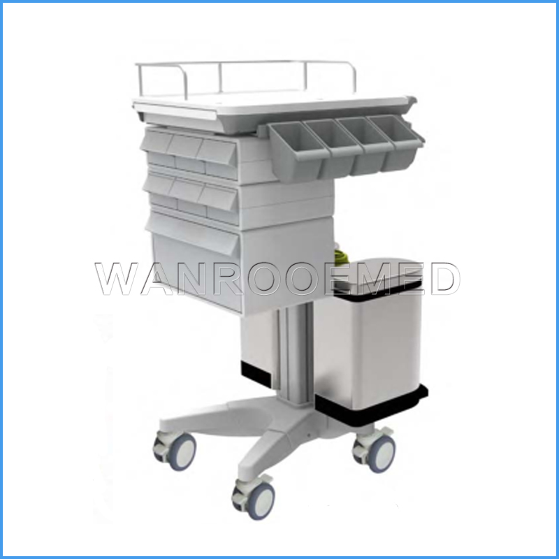 BMT-001D Mdeical Mobile Computer Trolley Hospital Nursing Treatment Cart