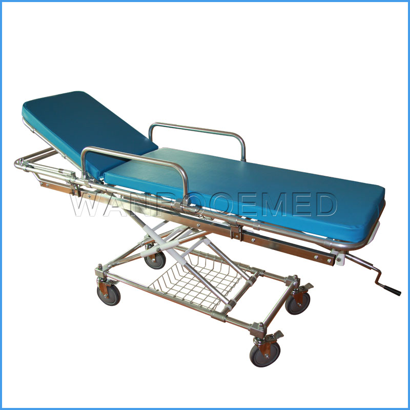EA-4A Medical Emergency Stainless Steel Ambulance Stretcher