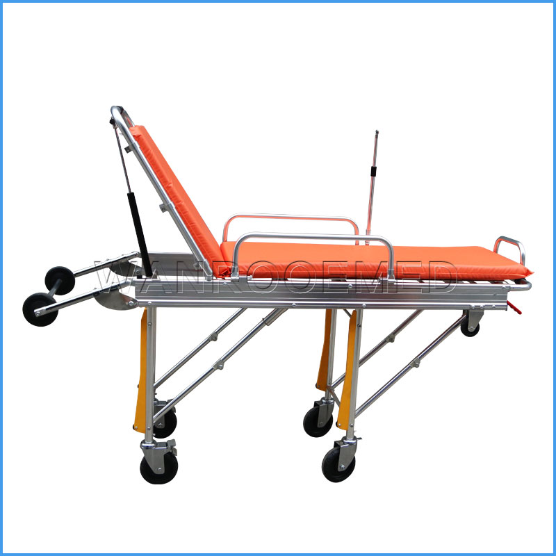EA-3A Stainless Steel Transport Medical Ambulance Stretcher For Patient