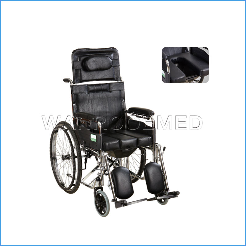 BWHM-1A8-1 Wholesale Hospital Furniture Steel Manual Foldable Wheel Chair