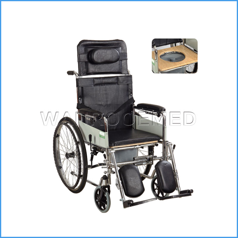 BWHM-1A902 Aluminum Alloy Transport Portable Folding Manual Wheelchair