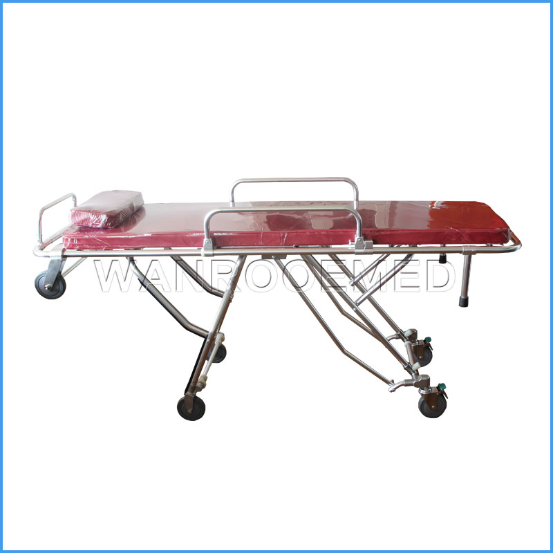 GA200 Multi-position Height Adjustable Mortuary Cot Funeral Folding Stretcher