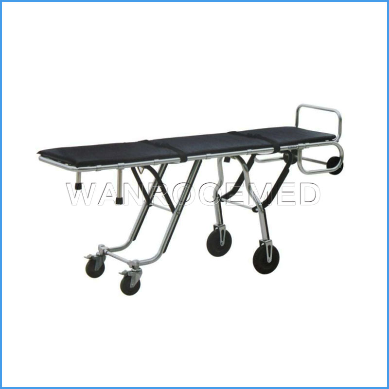 GA200B Multi-level Heavy Duty Fodable Funeral Stretcher Mortuary Cot
