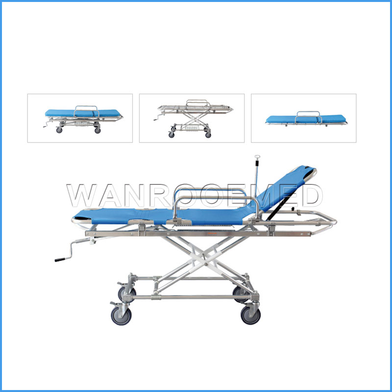 EA-4B Medical Aluminum Folding Hospital Ambulance Stretcher for Sale