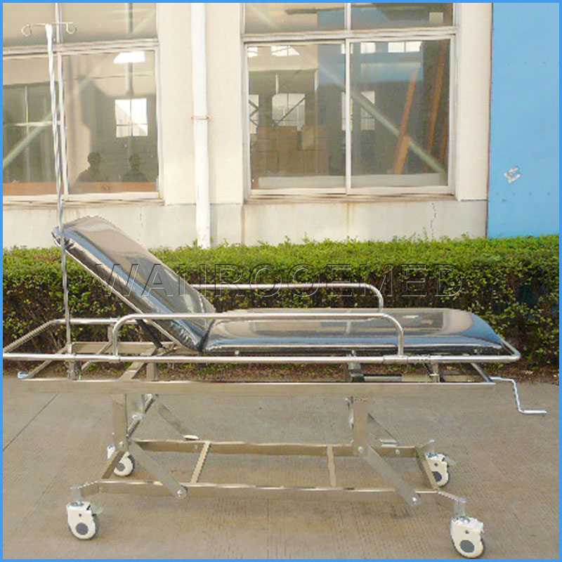 EA-4C Hospital Stainless Steel Emergency Transfer Ambulance Stretcher