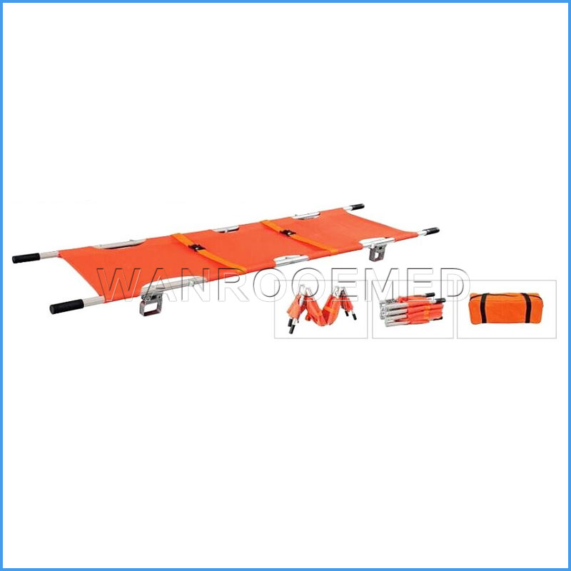 EA-1D5 First Aid Patient Delivery Transportation Al-alloy Folding Stretcher