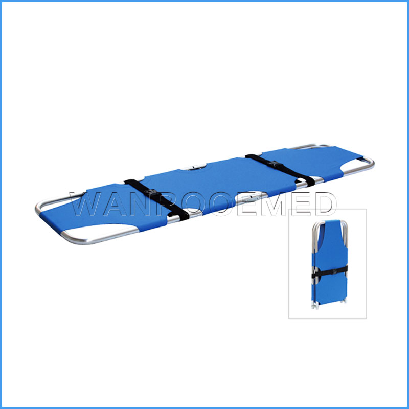 EA-1B1 Portable Patient Transport Rescue Aluminum Folding Stretcher