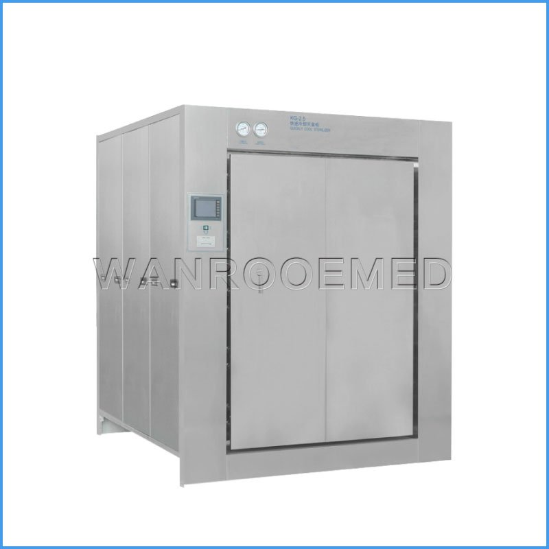 KG Double Door Pulsating Steam Bottles Cans Vacuum Autoclave Sterilizer