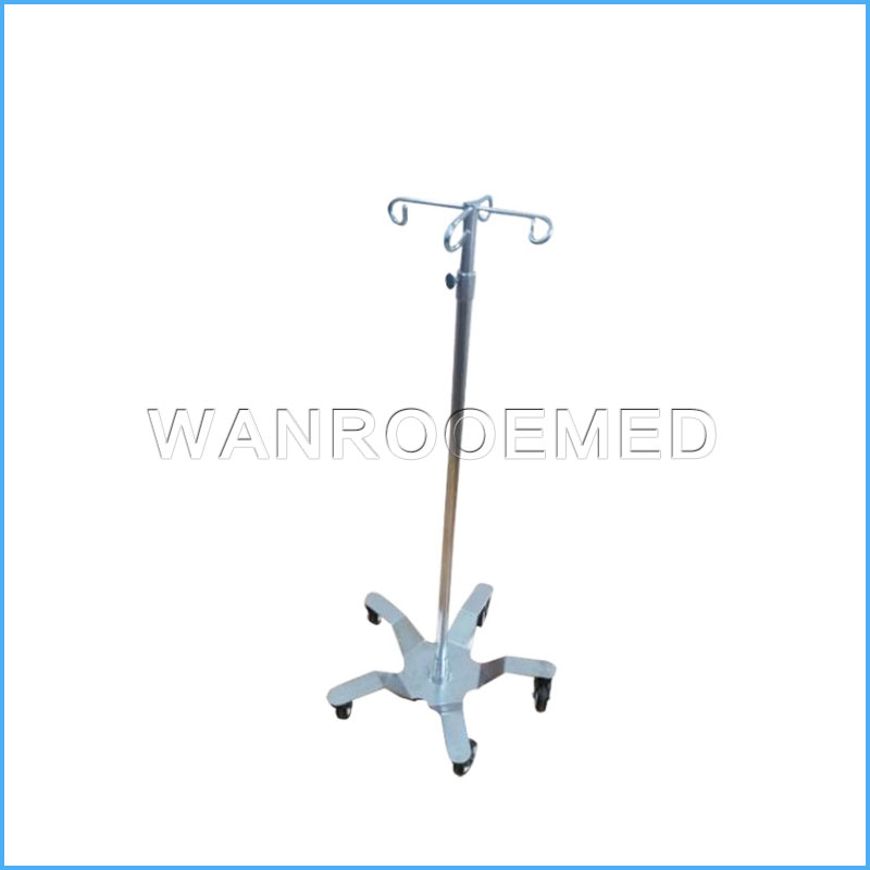 BIV04 Hospital Stainless Steel Drip Stand IV Pole IV Stand