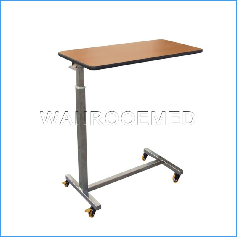 BDT003A/BDT003B Adjustable Portable Medical Over bed Table Hospital Bed Dinning Table