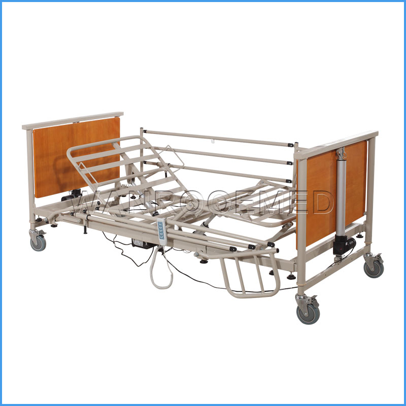 BAE5092 Five-Function Wooden Nursing Hospital/Home Care Patient Beds