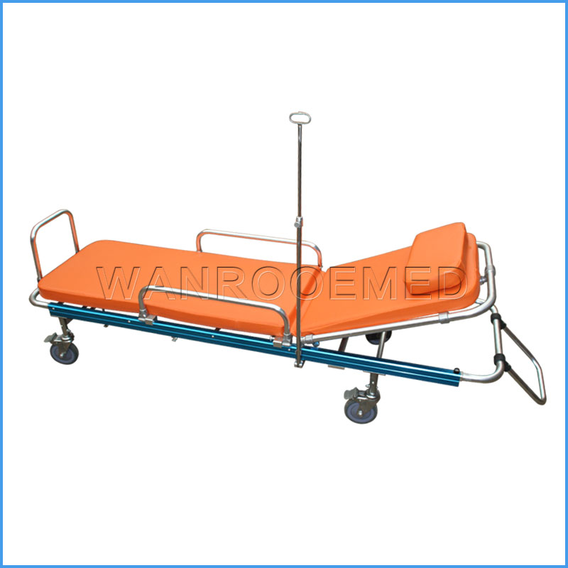 EA-2C Hospital Emergency Adjustable Ambulance Trolley Stretcher