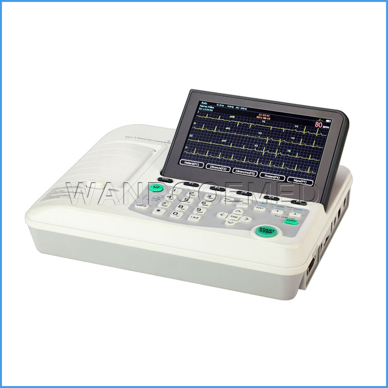 ECG301 Portable Digital Three Channel ECG Monitor Ambulatory