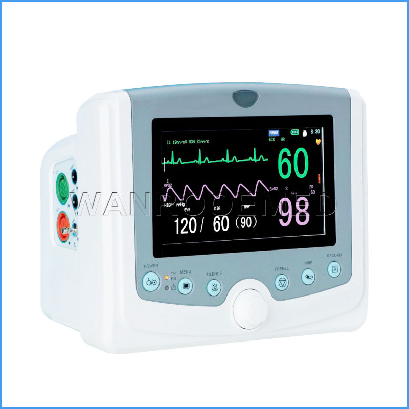 F6 V2.0 7 inches LED Display Multi Parameter Medical Patient Monitor
