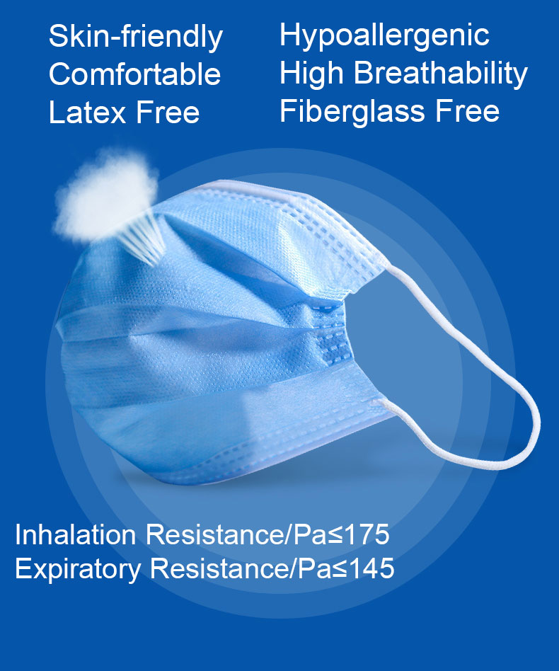 Surgical Face Mask, Earloop Face Mask, Antiviral Face Mask, Protective Mask, Medical Mask