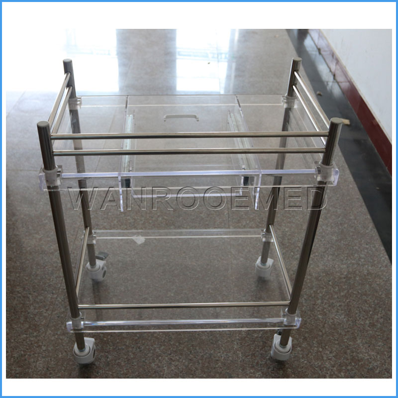 BSS200E Hospital Clinic Nursing Medical Stainless Steel Trolley