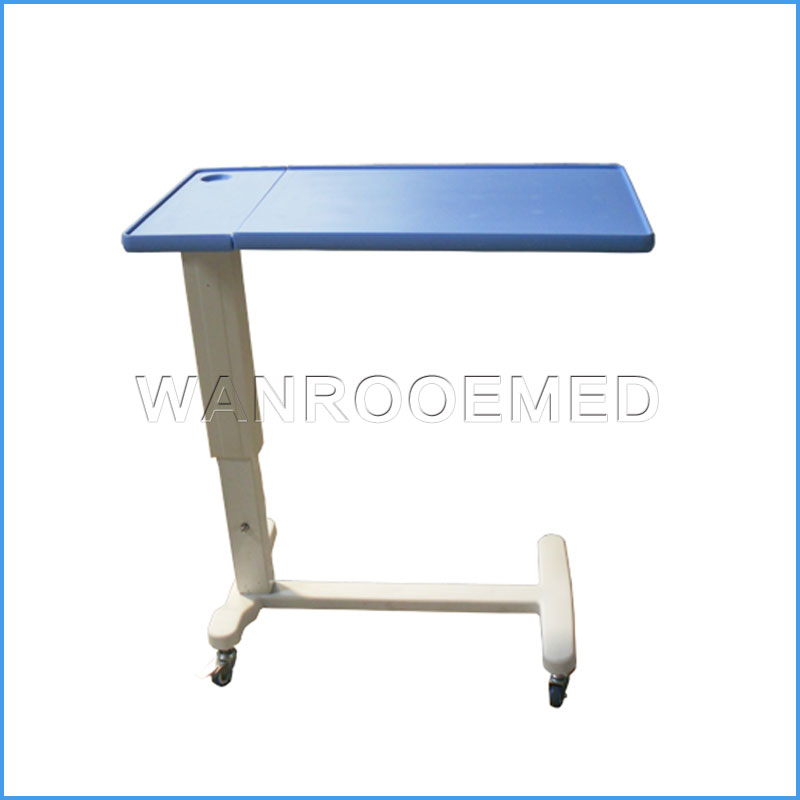 BDT001G Hospital Adjustable Over Bed Table Bedside Table With Wheels