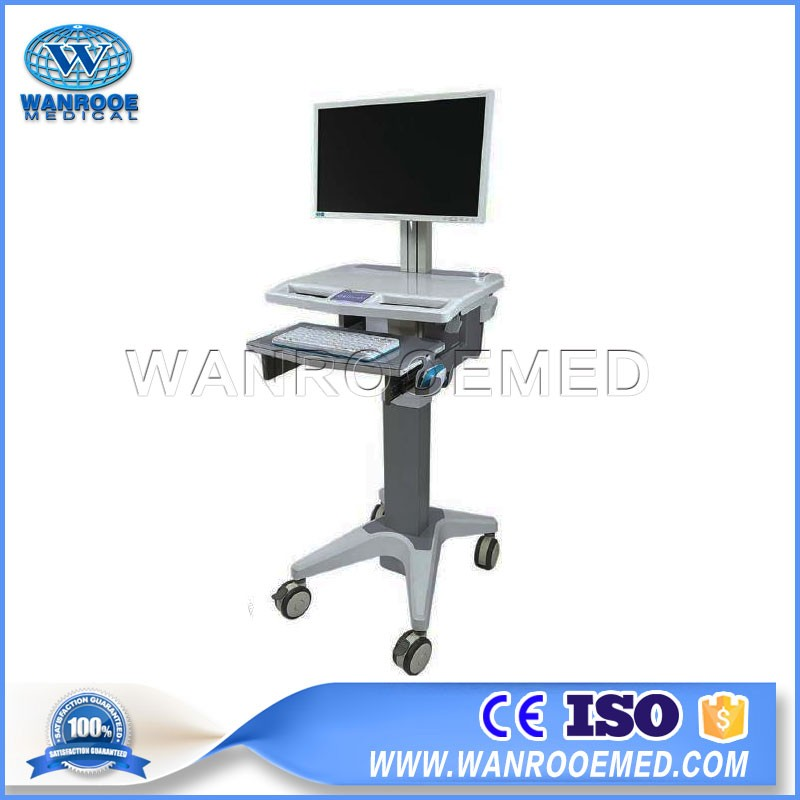 BWT-001B Hospital Mobile Doctor Simple All-in-one Computer Workstation Cart With Laptop Cabinet