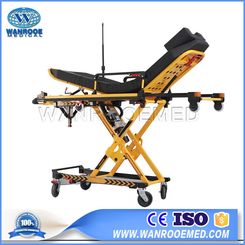 EA-3AD Medical Electric Folding Adjustable Patient Transfer Trolley Ambulance Stretcher