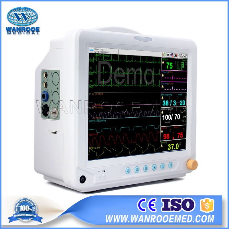 F5 Hospital Portable Multi Parameter Ambulance ICU Patient Monitor With ECG And Printer