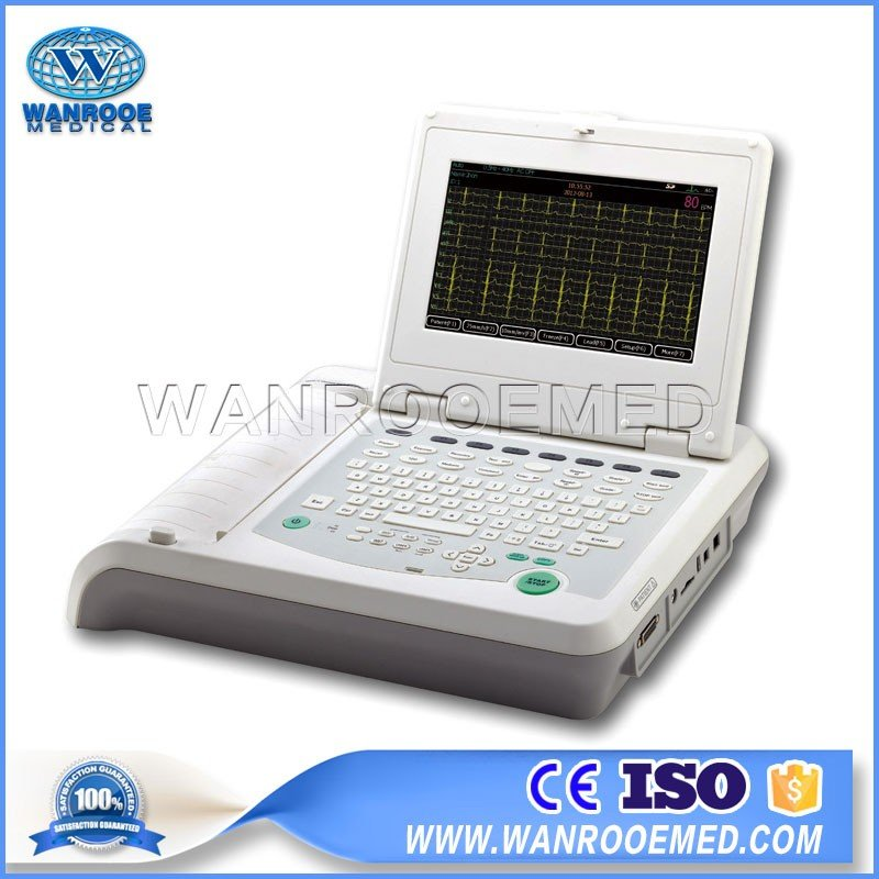 China Anti-coronavirus ECG Machine ECG1202 Digital Twelve Channels Portable ECG Monitor