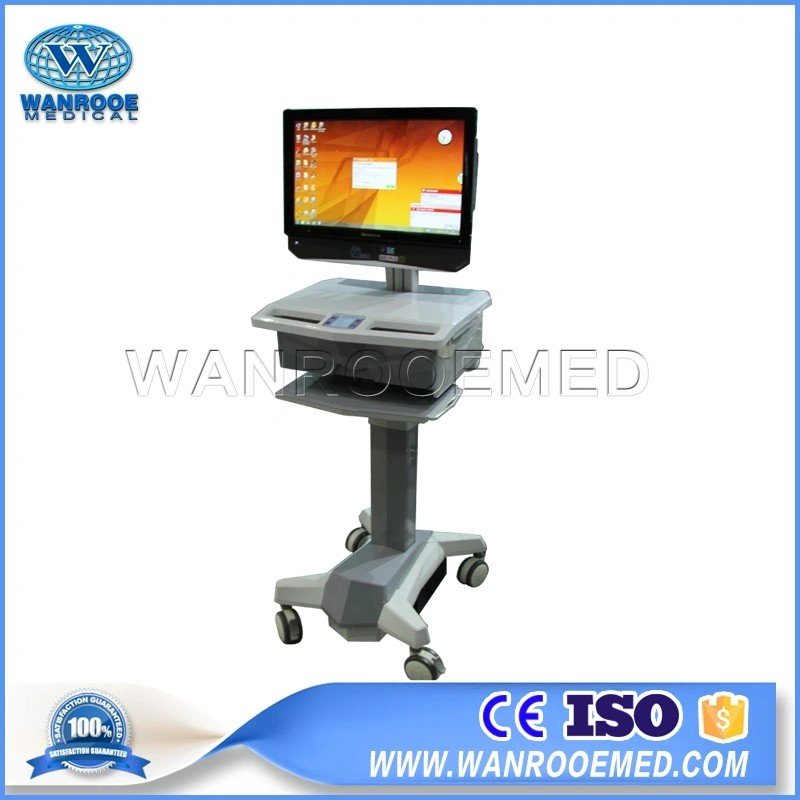 China BWT-001C Medical Mobile Desktop Computer Anti-coronavirus Workstation Trolley Cart With Infrared Detection