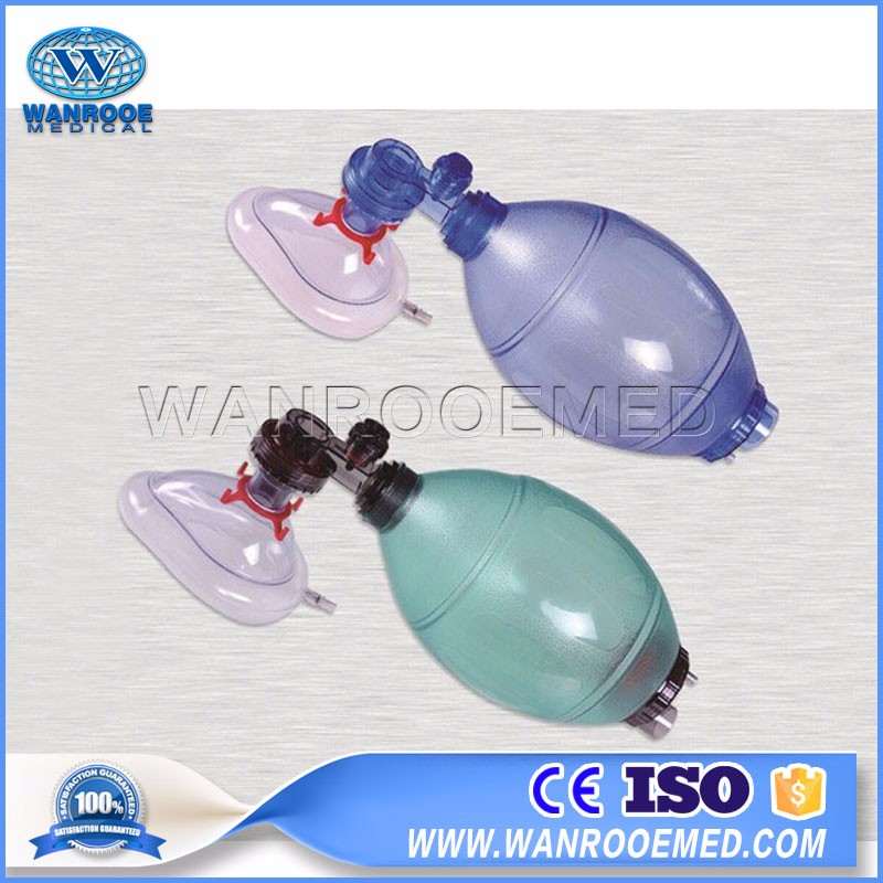 EB83 Medical Disposable Portable PVC Manual Ambu Bag Resuscitator For Adult And Child