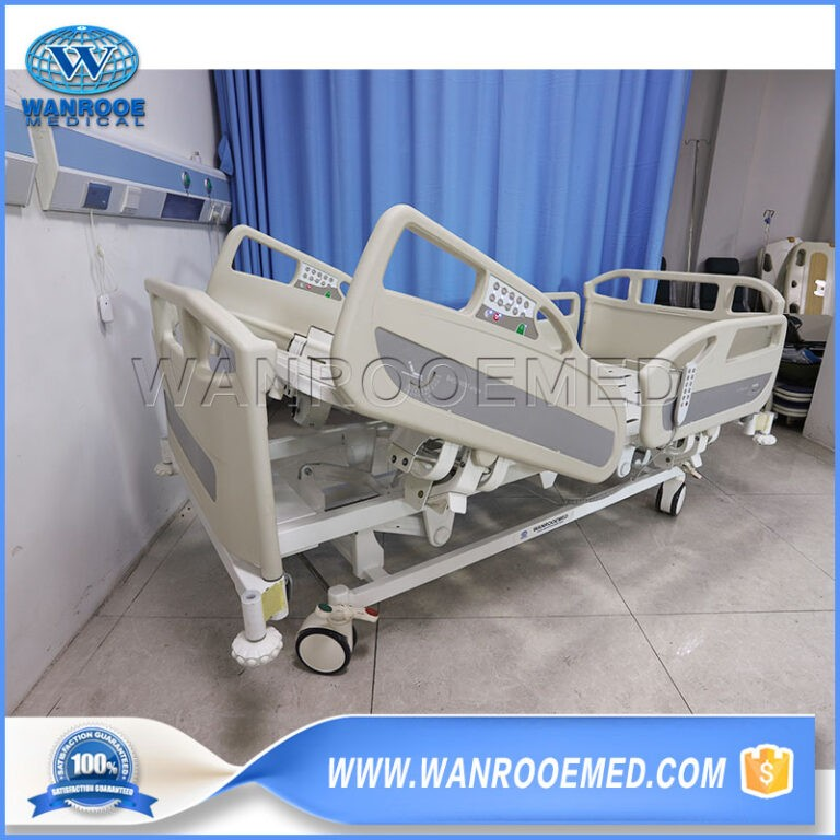 BAE508 Hospital Stainless Steel 5 Functions Electric Adjustable Patient ICU Bed