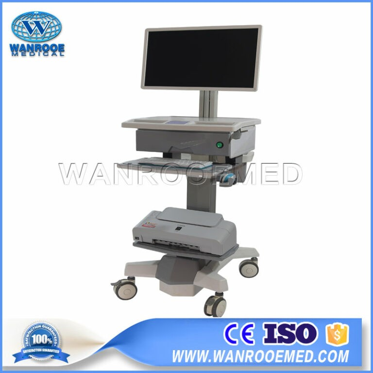 BWT-001D Hoapital Mobile Adjustable Cart HD Video Computer Medical Trolley