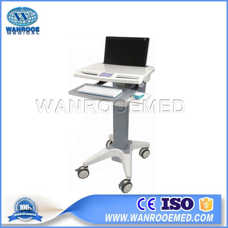 BWT-002A Hot Sale Hospital Mobile Computer Laptop Cart Mobile Trolley