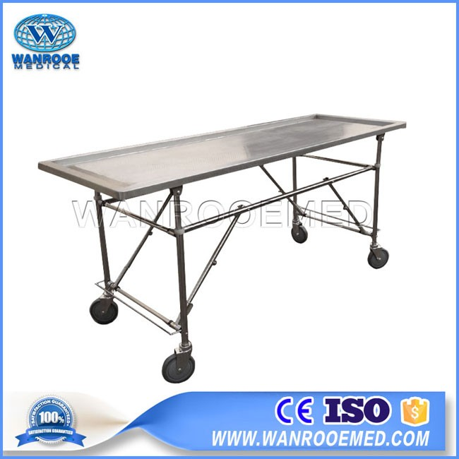 GA204 Funeral Embalming Stainless Steel Autopsy Operatig Table