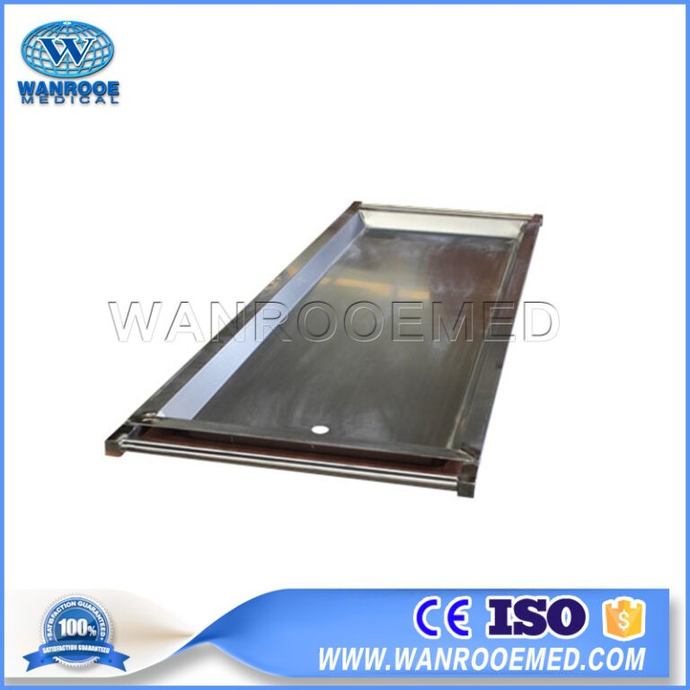 GA504 Stainless Steel Mortuary Body Tray With Drainage Hole