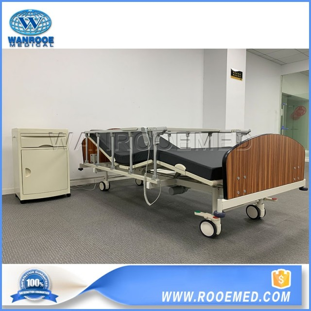 BAE2092 Hospital Medical Two Function Home Care Bed Folding Guardrail Care Bed