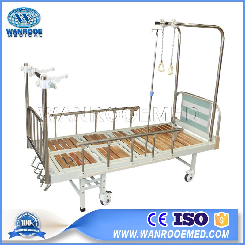 BAM400G Hospital Adjustable Four Cranks Double Arm Manual Traction Orthopedic Bed
