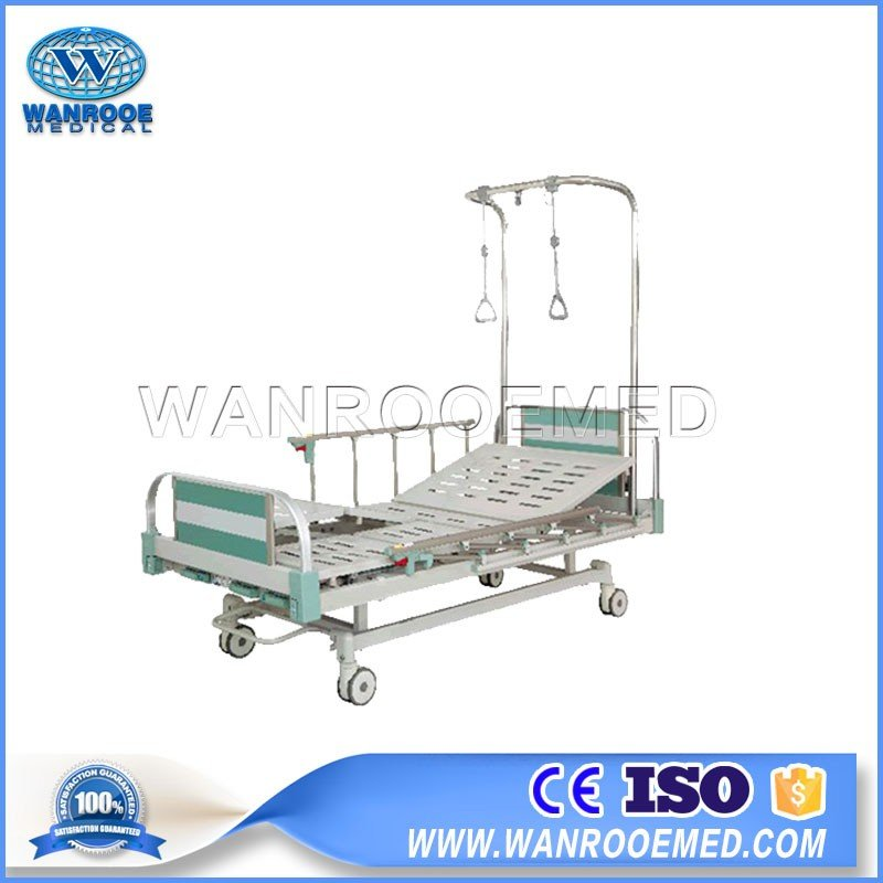 BAM301G Hospital Medical Double Arm 3 Cranks Orthopedic Traction Bed