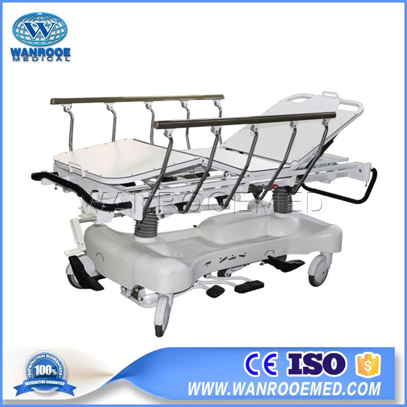 BD111BB Hydraulic Hospital Transport Stretcher Ambulance Patient Transfer Trolley Cart