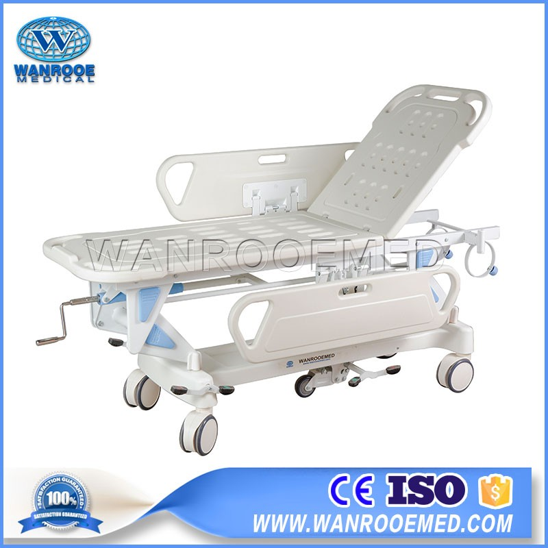 BD111 Hospital Emergency Manual Transport Stretcher Transfer Trolley Cart