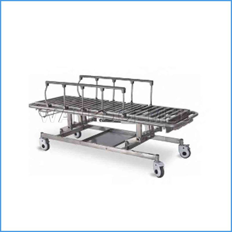 BD207 Hospital Manual Ambulance Patient Transfer Stretcher Trolley Transfer Cart