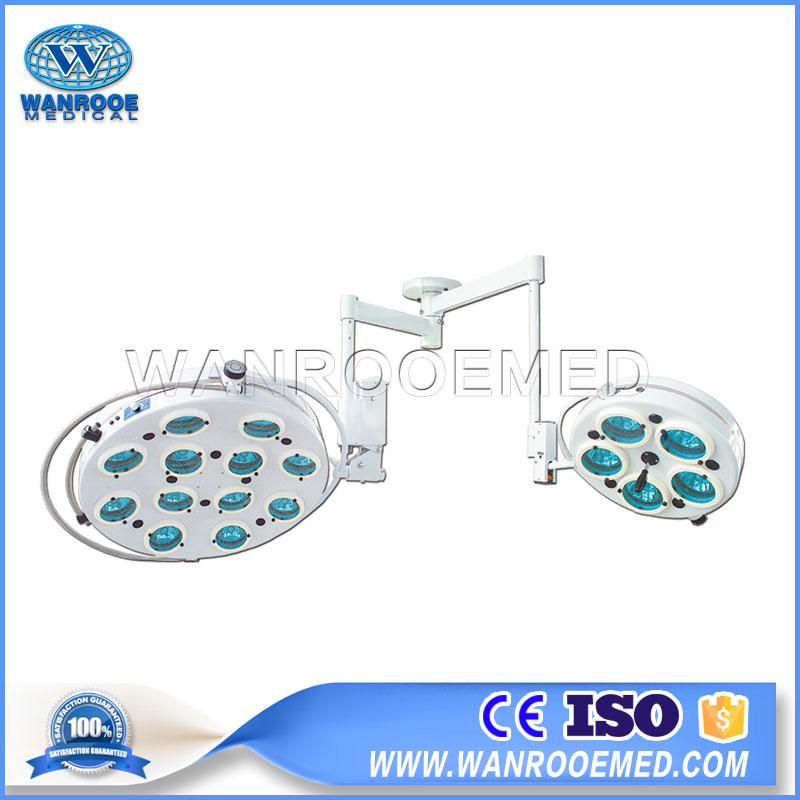 AKL1205L Medical Ceiling Lamp Double Dome Halogen Shadowless Operating Light