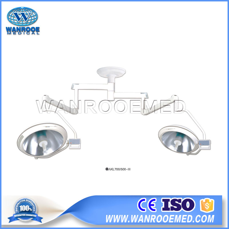 AKL700/500-III Medical Double Dome Shadowless Surgery Operation Lamp Ceiling Operating light