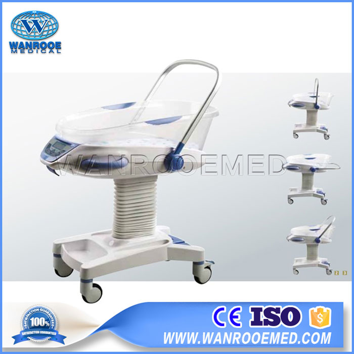 BBC007 Medical Height Adjustable Hydraulic Baby Cradle‎ Hospital Baby Cot