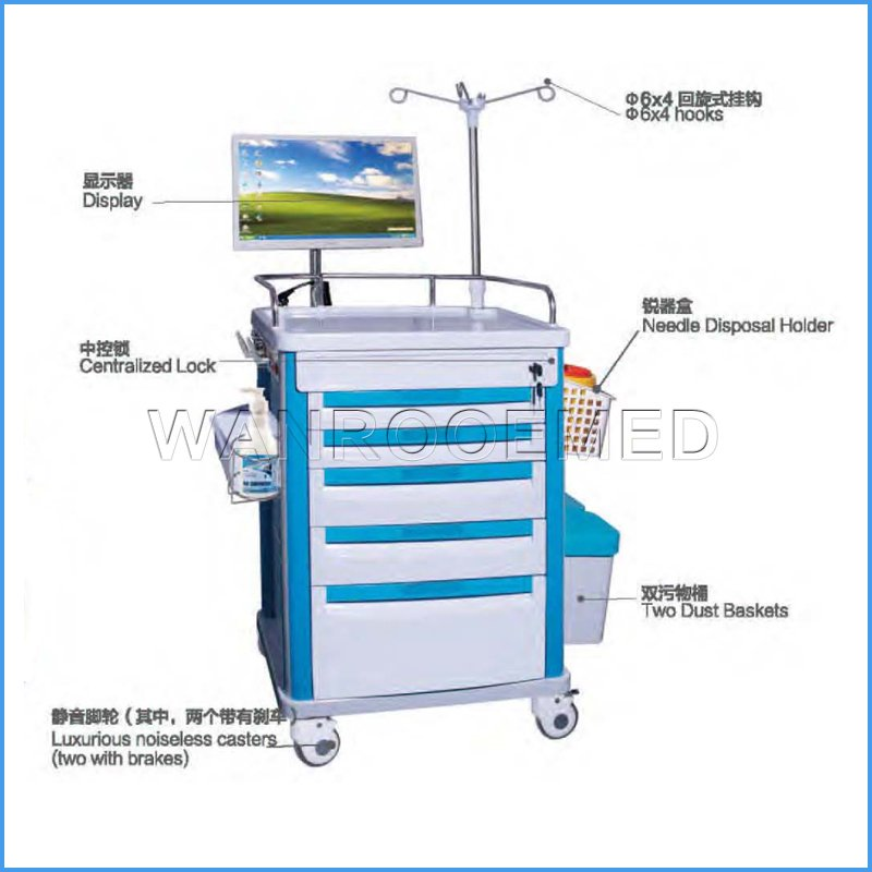 BE-NT-63072A / B Wholesale Computer Nursing Trolley Hospital Cart