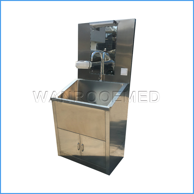 BSS100-1 Steel Frame Washing Induction Medical Scrub Sink For Hospital Operating Room