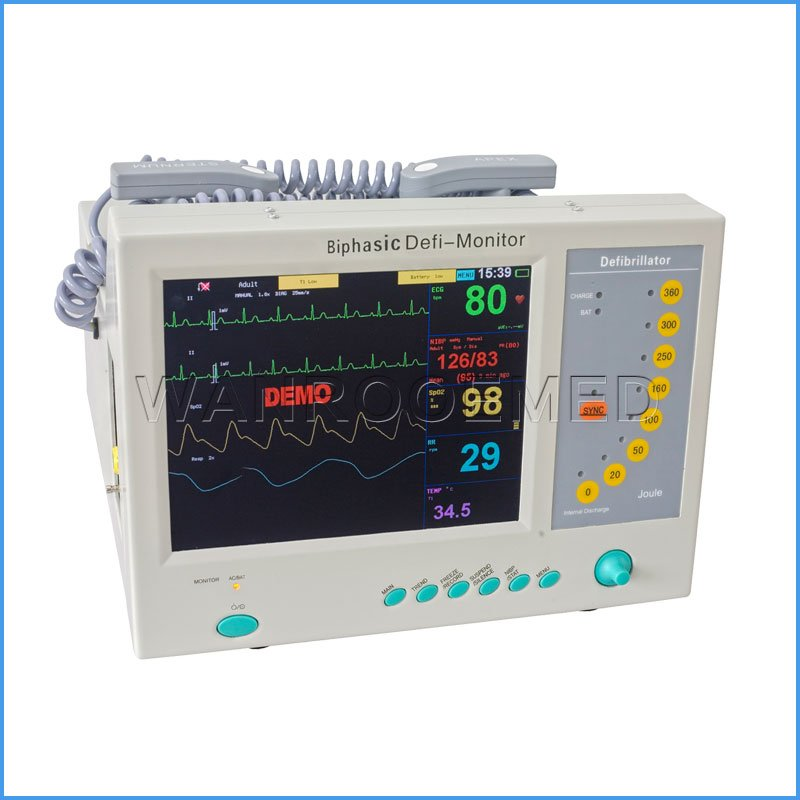 DEFI-8000B Portable AED Automated External Biphasic Monitor Defibrillator Price