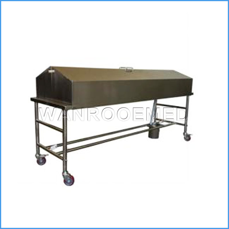GA201A Hospital Stainless Steel Concealment Morgue Corpse Cart Trolley With Cover