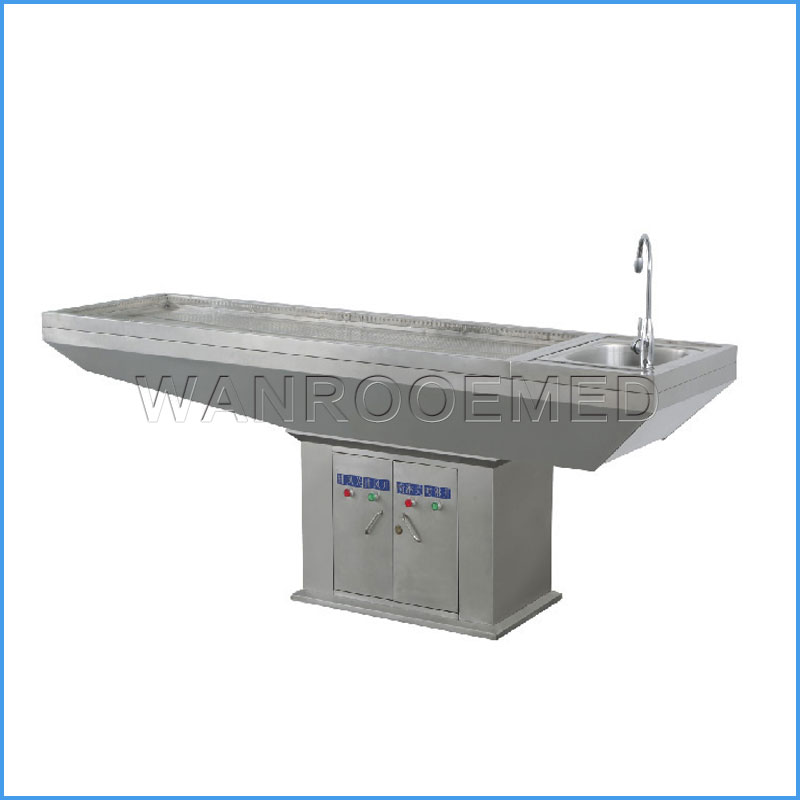 GA-2003D Morgue Corpse Washing Dissecting Stainless Steel Autopsy Table