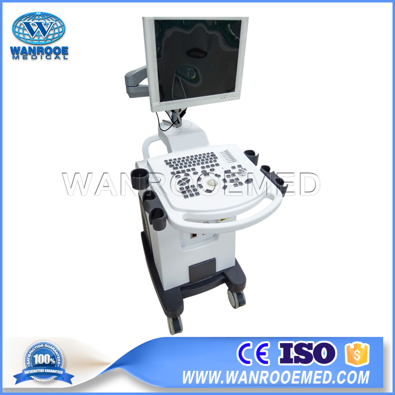 US350 Hospital Portable Trolley Full Digital 3D BW Ultrasound Scanner